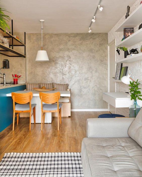 Aprenda como aplicar textura de parede na sala de jantar