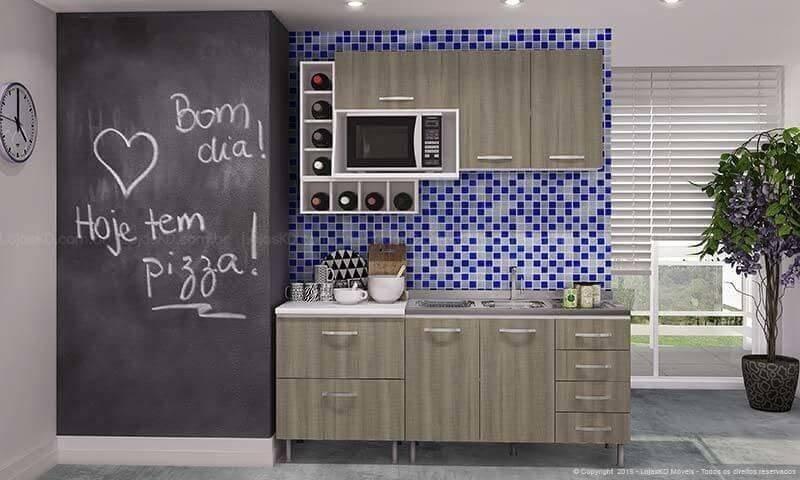 pastilhas adesivas cozinha azul mesclado lojas kd 116543