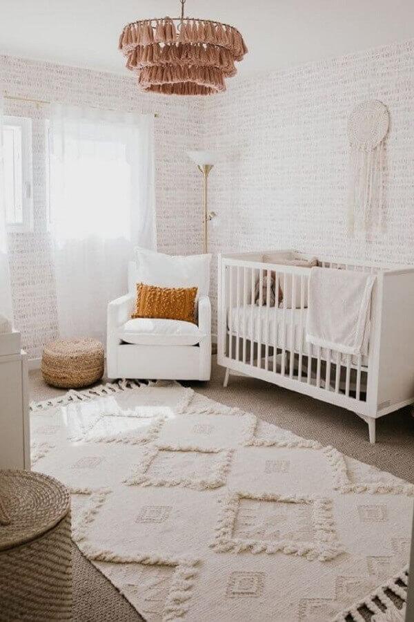 poltrona de amamentação para decoração de quarto de bebê branco Foto Home Fashion Trend