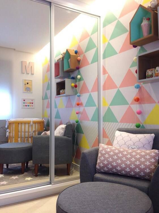 poltrona de amamentação quarto colorido maira schaeffer 80874