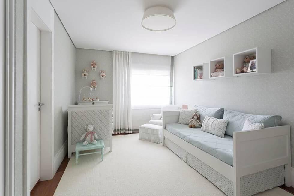 poltrona de amamentação quarto de menina azul bmg arquitetura 22396