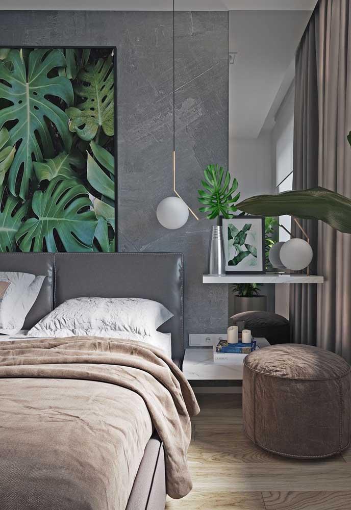 Como aplicar textura de parede no quarto cinza