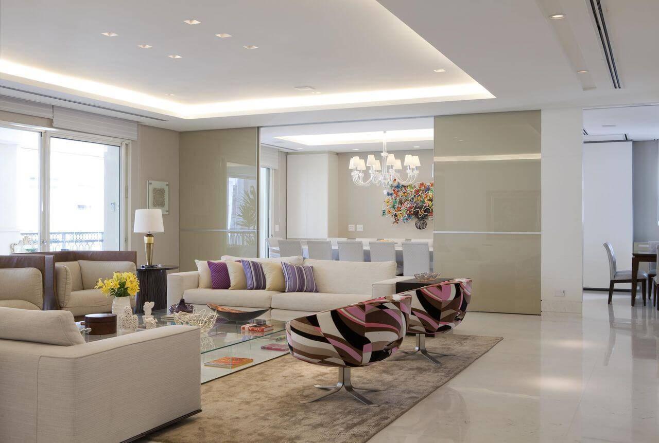 Sanca de gesso 39 ambientes lindos e atuais for Pintado de salas pequenas