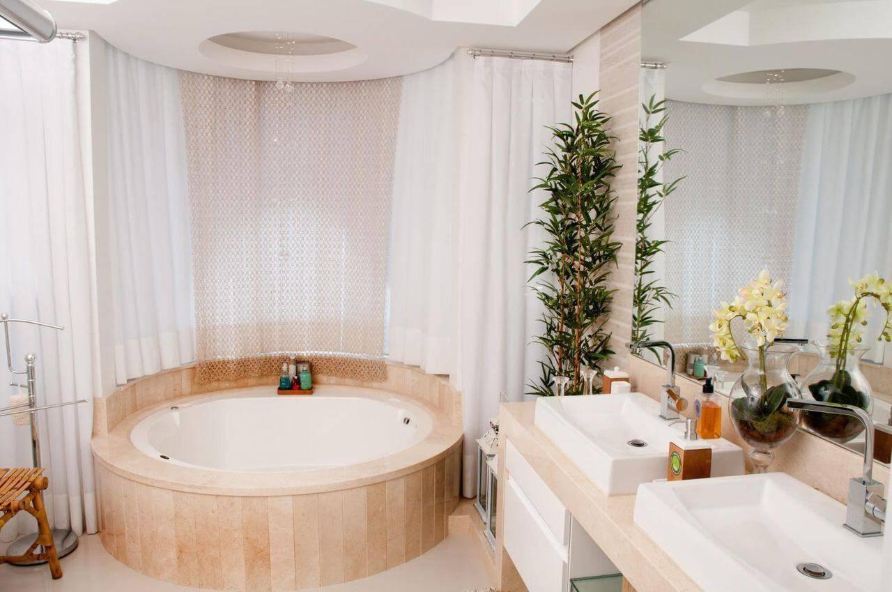 sanca de gesso banheiro com banheira juliana pippi 66145