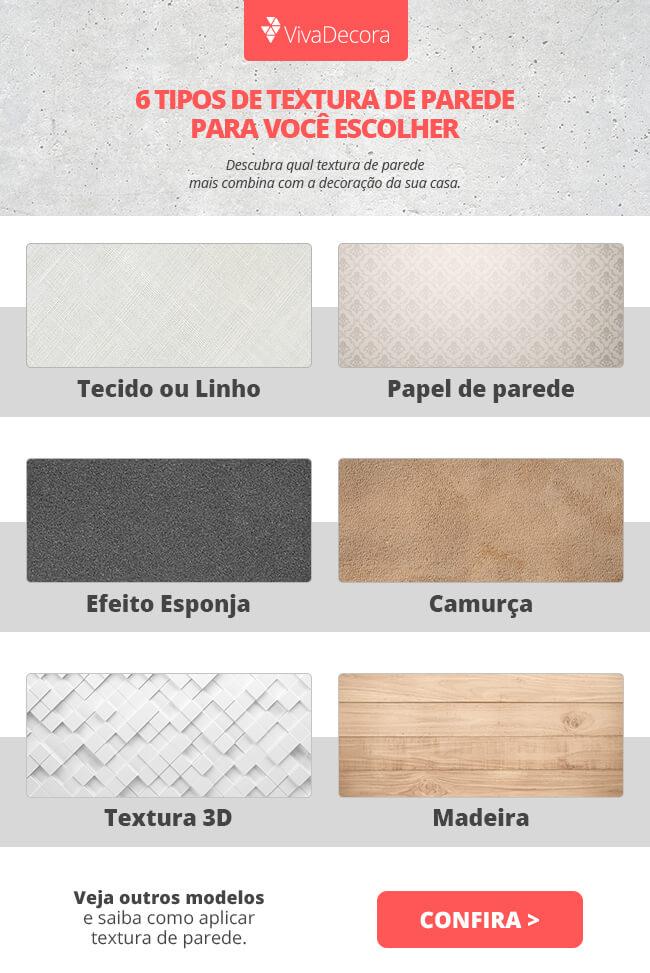 Infográfico - Tipos de Texturas de Parede