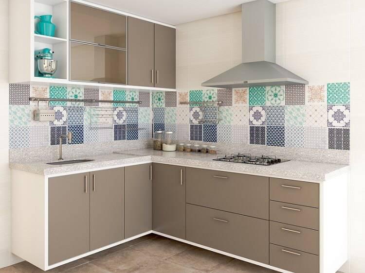Cozinhas Planejadas para Apartamentos Pequenos azul leroy