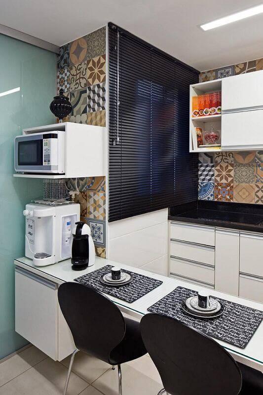 Cozinhas Planejadas para Apartamentos Pequenos balcão karla amaral madrilis 52619
