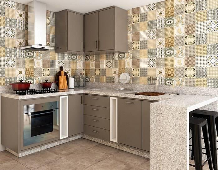 Cozinhas Planejadas para Apartamentos Pequenos cinza leroy