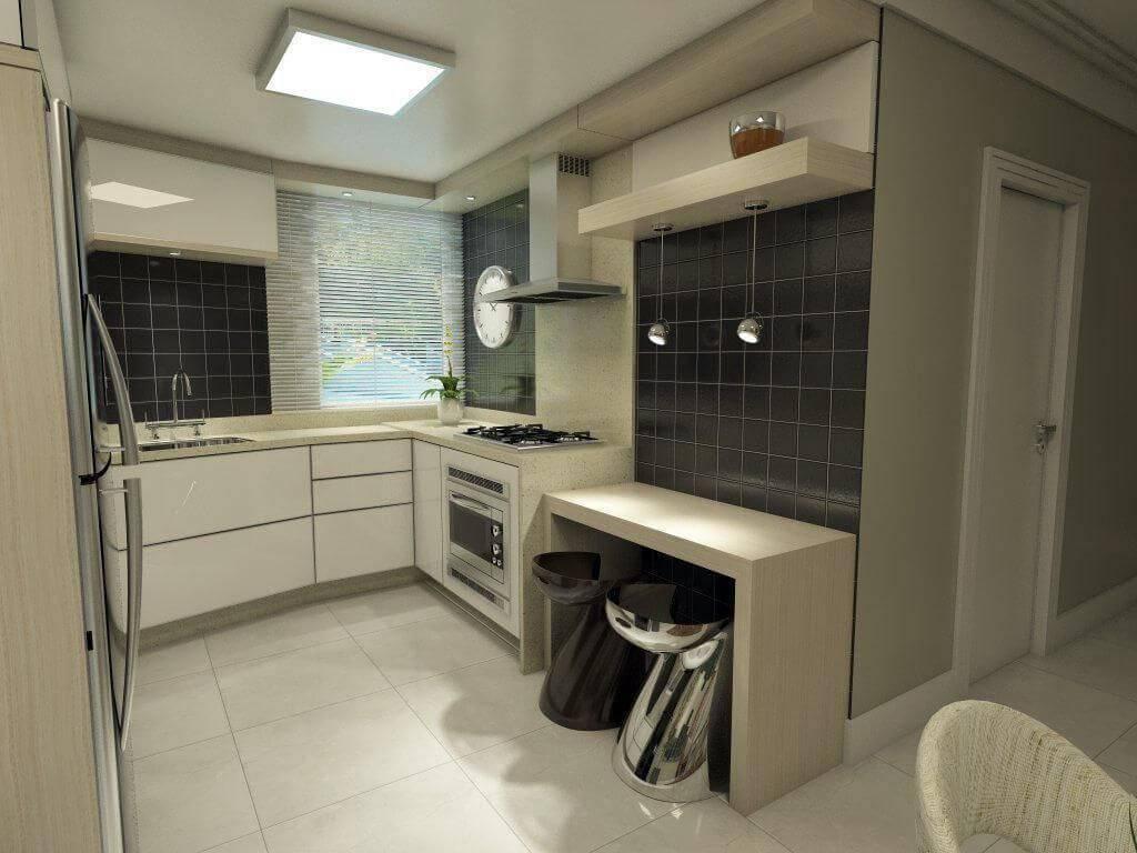 Cozinhas Planejadas para Apartamentos Pequenos com banquetas ednilson hinckel 39691