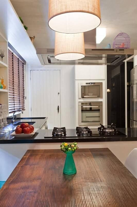 Cozinhas Planejadas para Apartamentos Pequenos com mesa olegario de sa 107661