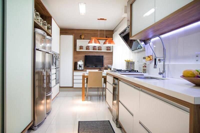 Cozinhas Planejadas para Apartamentos Pequenos lustre cobre manoela lust 36683