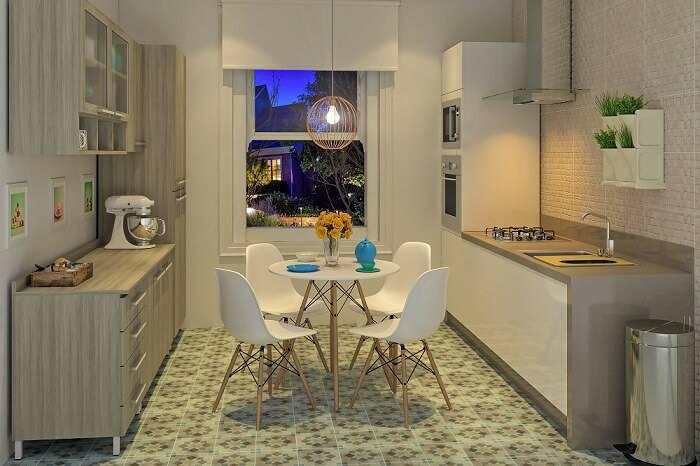 Cozinhas Planejadas para Apartamentos Pequenos moduladas leroy bege