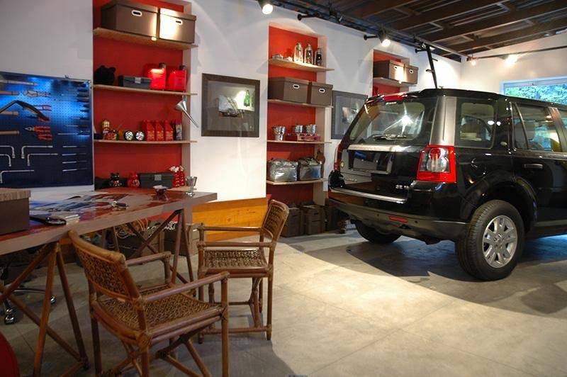 Decoração de dia dos pais - garagem com mesa de descanso