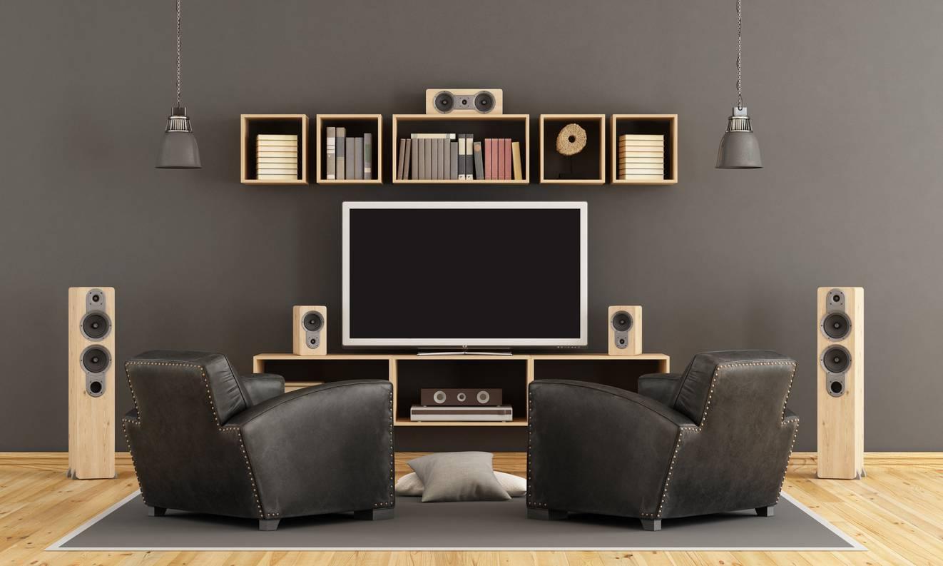Decoração de dia dos pais - sala de tv com parede cinza
