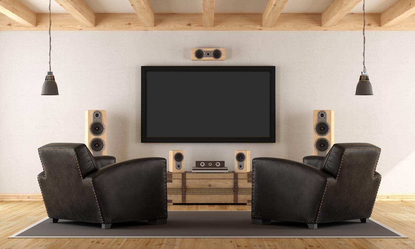 Decoração de dia dos pais - sala de tv com poltronas reclináveis