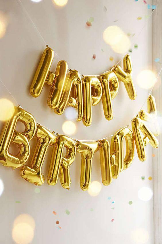Decoração de festa de 15 anos - Balões de aniversário