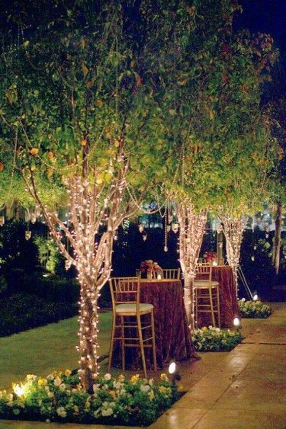 Decoração de festa de 15 anos - Jardim decorado