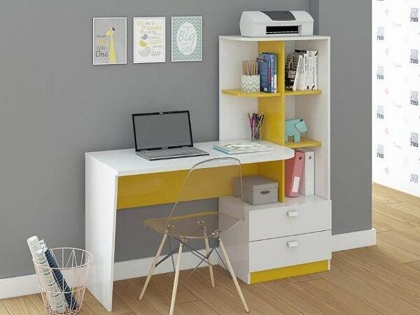 Escrivaninha branca para computador