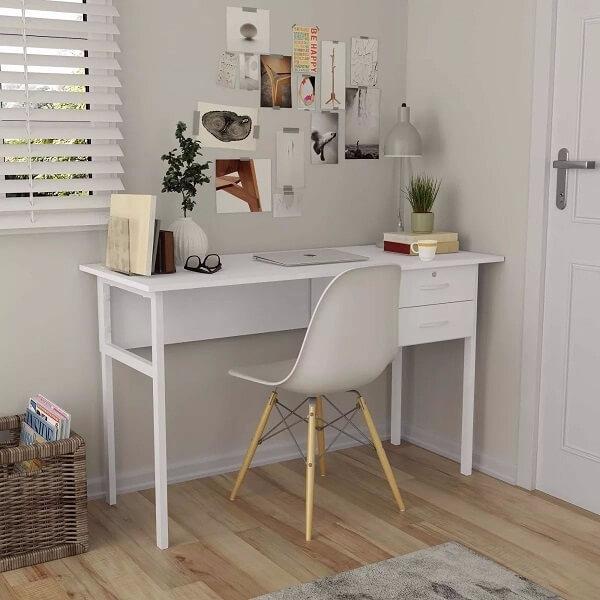 Escrivaninha branca para quarto