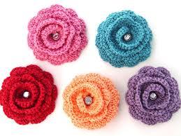 Flor de crochê de várias cores