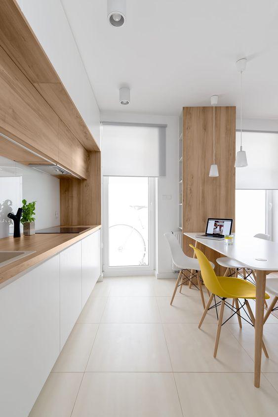 Piso cerâmica para cozinha moderna