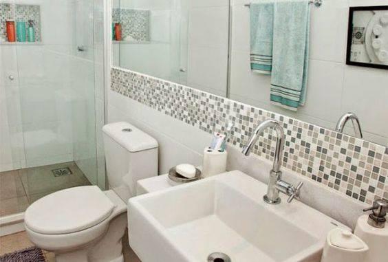 Revestimento de parede de pastilhas para banheiro