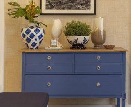 ambiente decorado com cômoda azul  Foto Pinterest