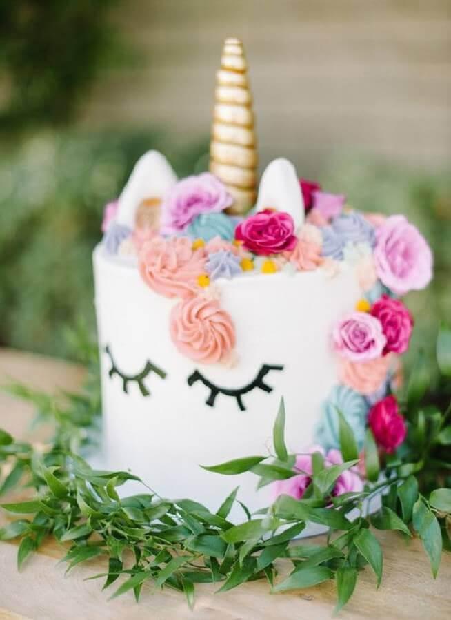 bolo para decoração de festa infantil com tema unicórnio Foto 100 Layer Cakelet