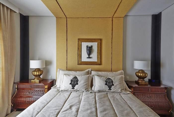 cabeceira de casal tecido amarela ana luisa previde 72003