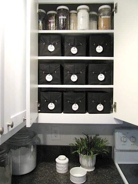 caixa organizadora cozinha caixas pretas
