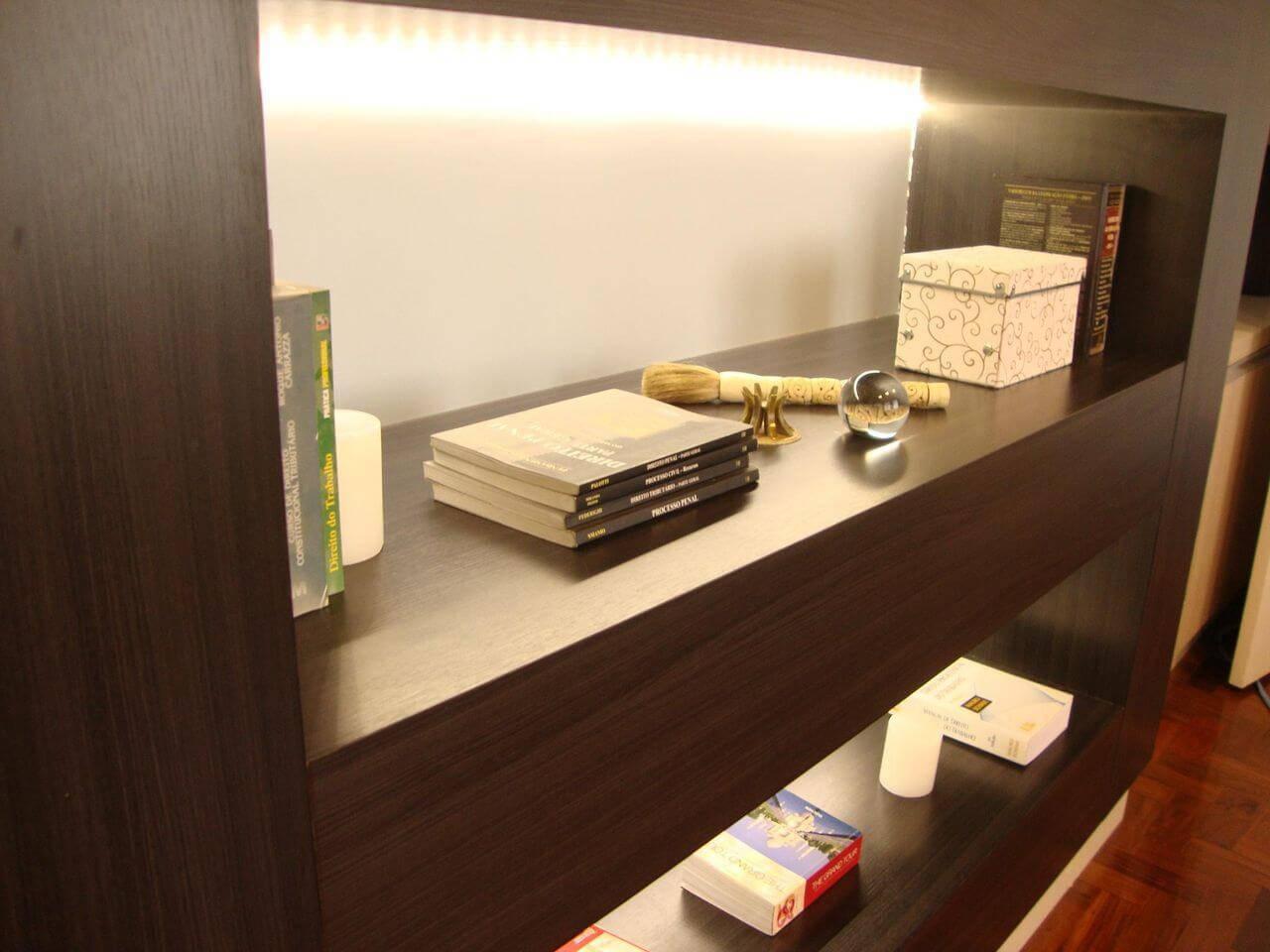 caixa organizadora prateleira home office madi arquitetura 35976