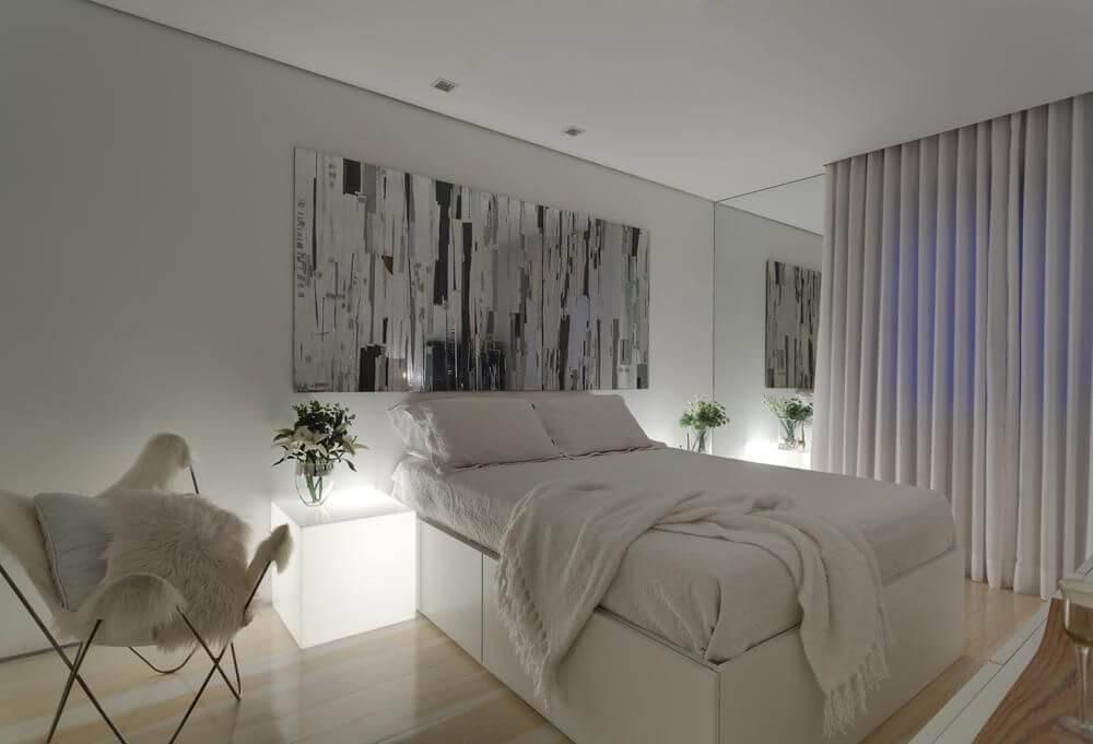 cama de casal com estrutura e gavetas denise macedo 8175