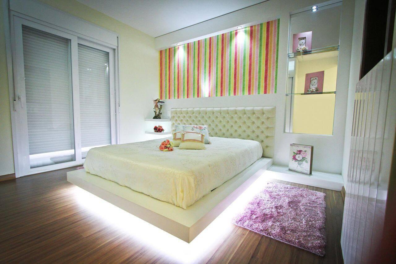 cama de casal futon iluminada colorida sofisticare 2570