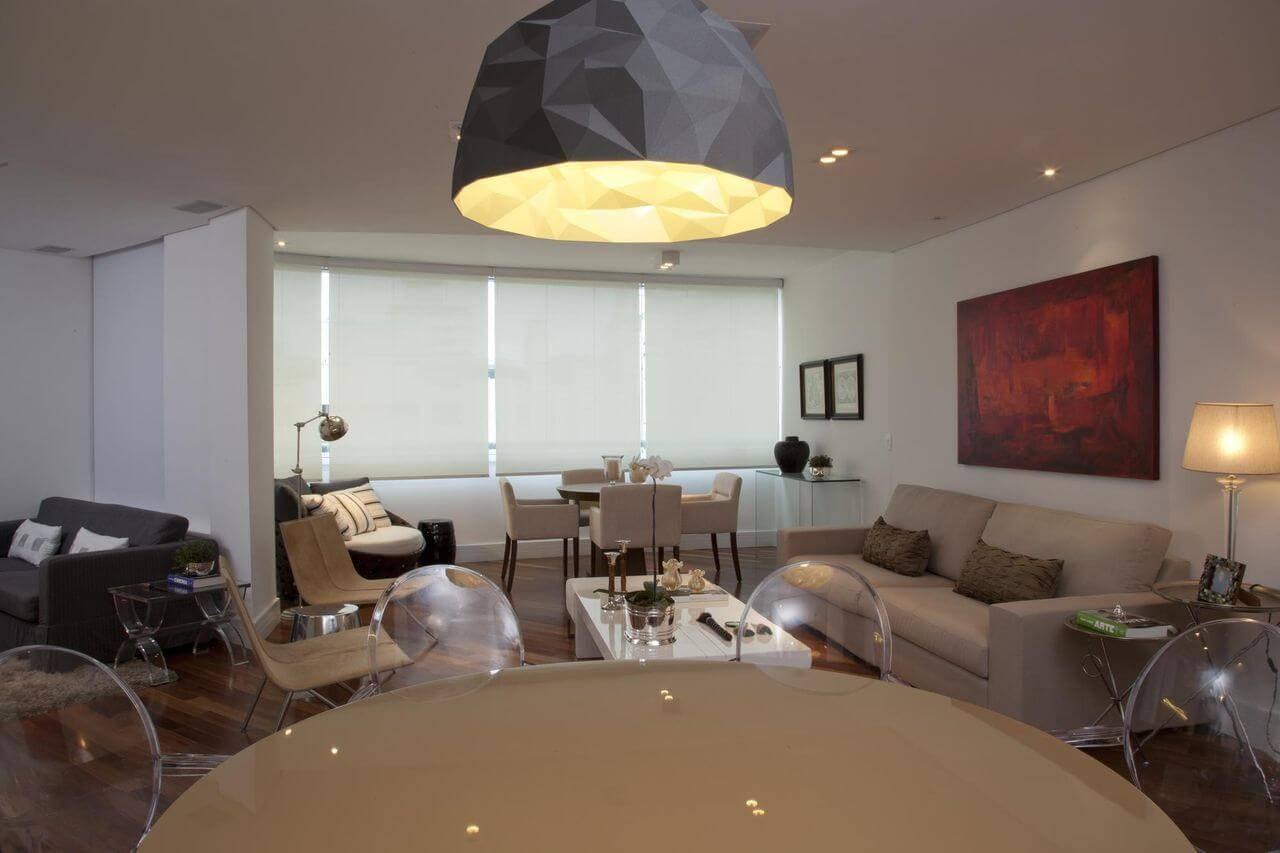 carpete de madeira sala de jantar com mesas patricia kolanian- 79