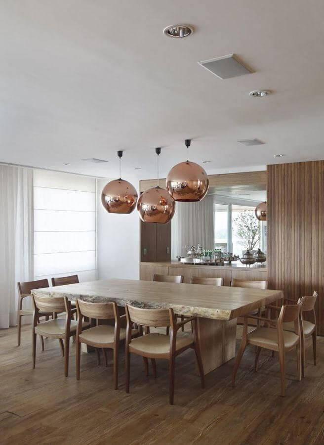 carpete de madeira sala de jantar com pendentes a1 arquitetura 75947