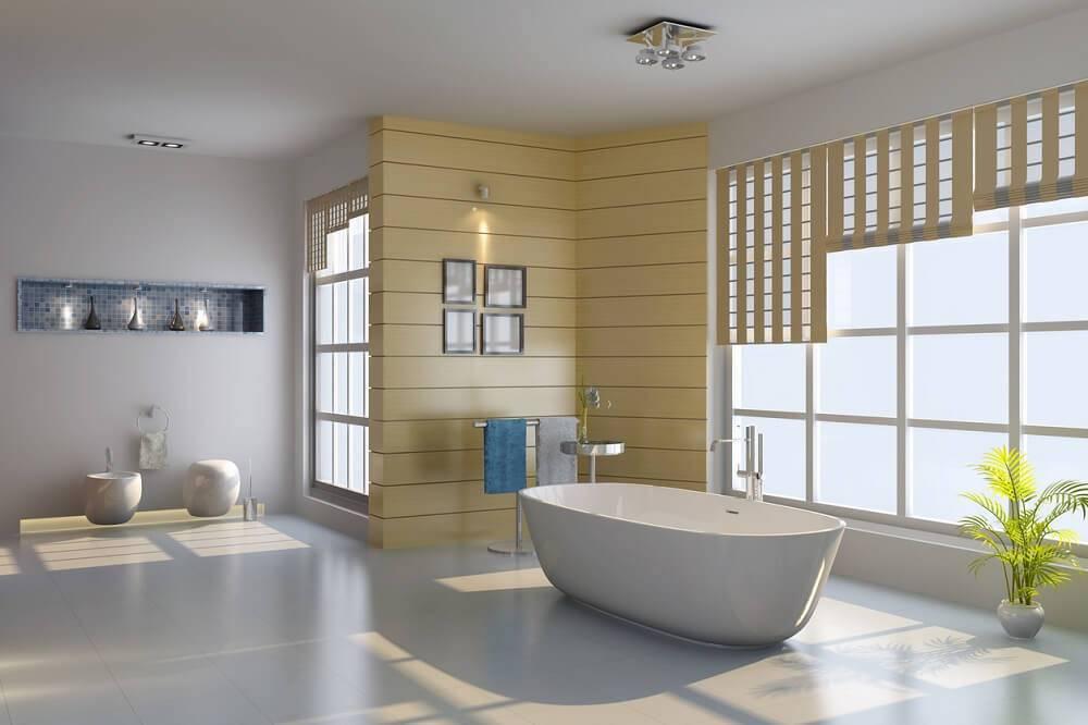 ceramica banheiro moderno com janela