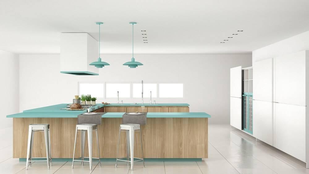 ceramica cozinha com detalhes em azul