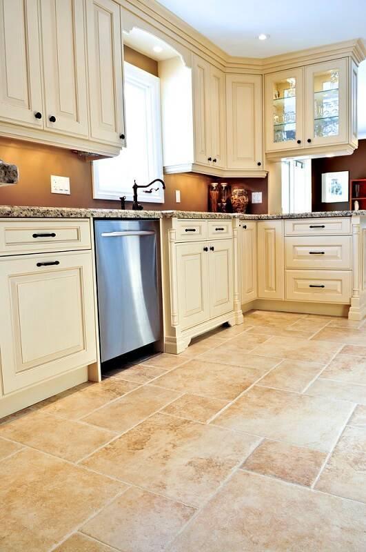 ceramica piso irregular na cozinha