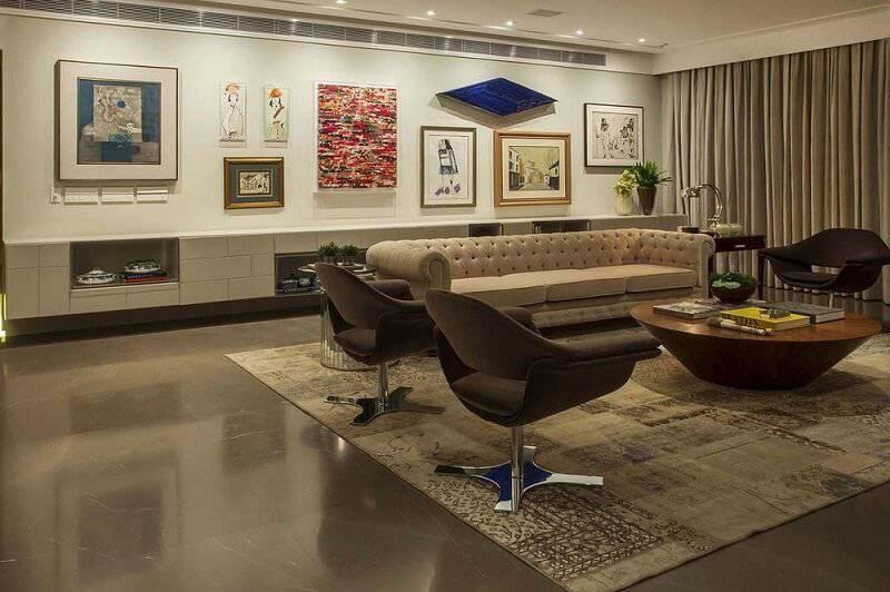 ceramica piso marrom triplex arquitetura 16710