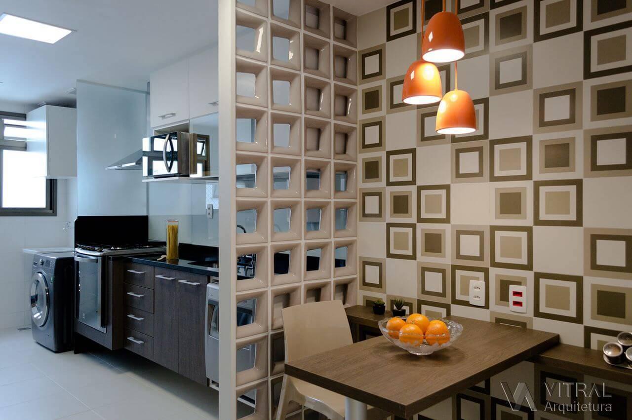 cobogo cozinha sala de jantar vitral arquitetura 137492