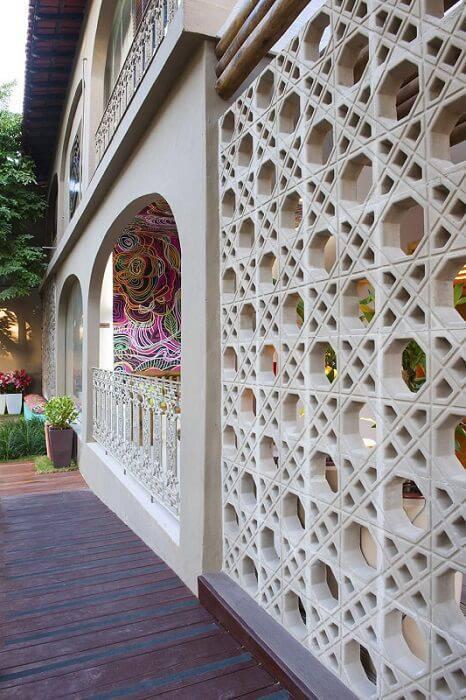 cobogo fachada de casa branco paola bassani louzada 50147
