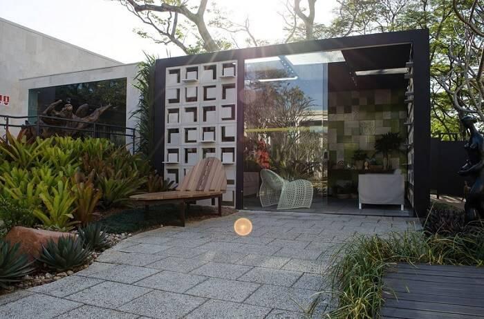 cobogo fachada de casa moderna casacor sp 2017 148067