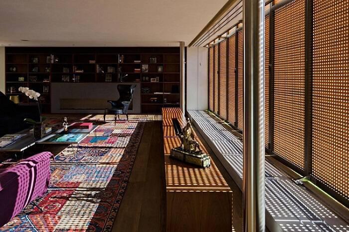 cobogo fachada luz do sol sala de estar studio mk27 85230