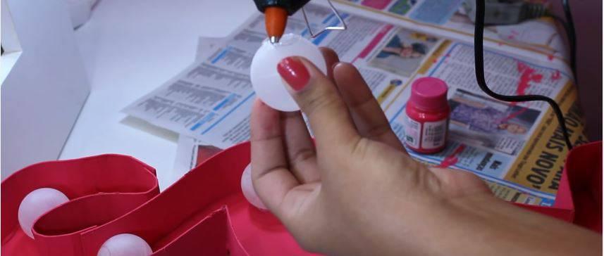 como fazer luminaria bolas com cola