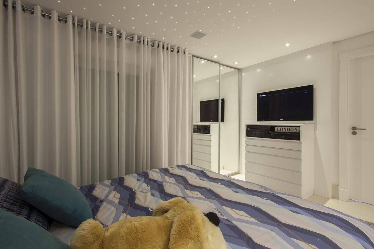 comoda branca com tv quarto de casal sandra sanches 95365