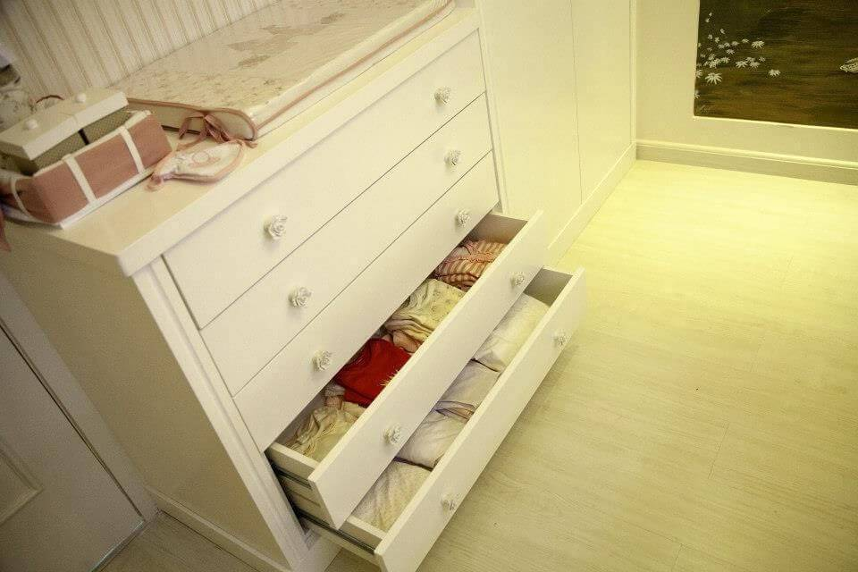 comoda quarto de bebe com trocador janete rangel 54957