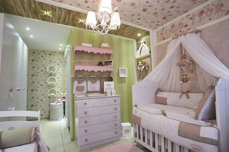 comoda rosas quarto de bebe andrea bento 134029