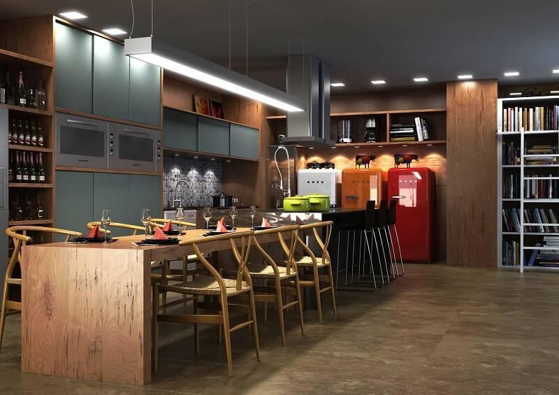 cozinha dos signos escorpião de madeira