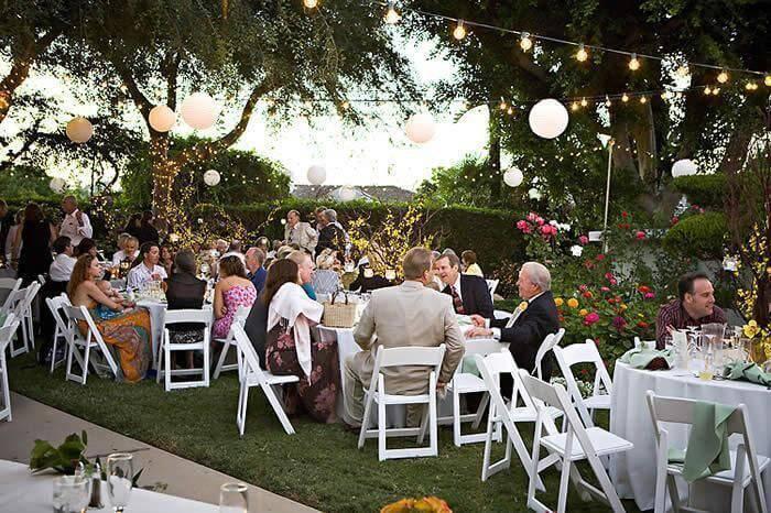 decoração de casamento area dos convidados