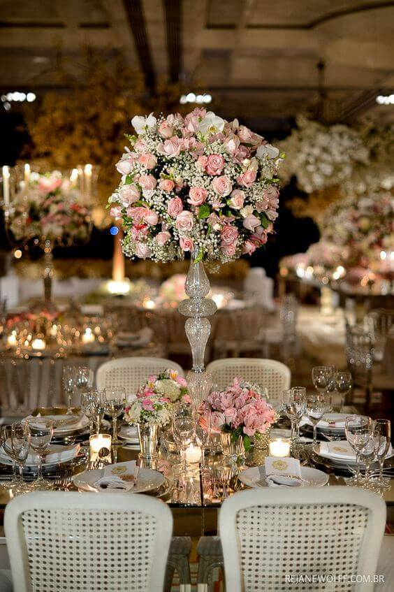decoração de casamento arranjo de mesa r
